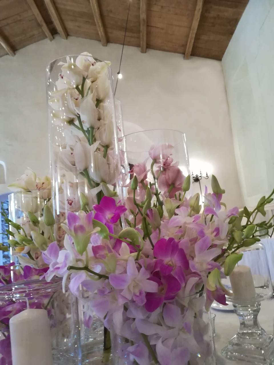 Decorations, floral creations and arrangements for wedding reception room - Villa Ventura - Falerna - Catanzaro - Calabria